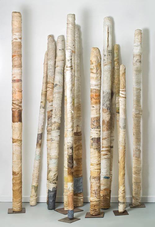 Vestigial Columns, mixed media