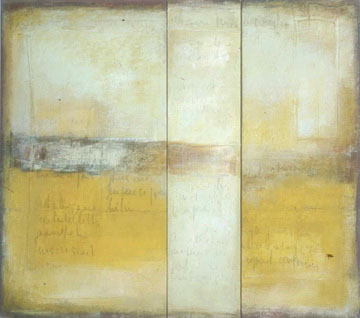 "From an Ochre Wall, acrylic on canvas, 54 x 60,"" 2001"