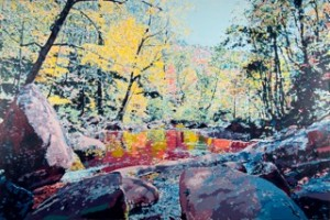 Rapidan, Autumn Downstream painting