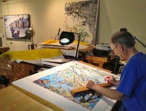 Nichols in his studio