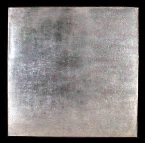 Pond Life, Ocracoke 48X48, dry pigment & aluminum