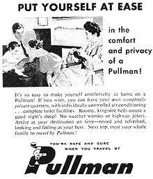 Pullman ad, 1950s