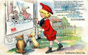 Buster Brown postcard ad 1909