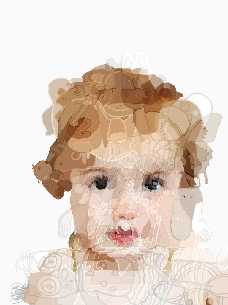Ella at a young age by Blake Hurt