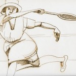 forrest_berlin_in_the_1920s**_woman_tennis_player_ink_on_paper_9x12_digital_overlay_2013