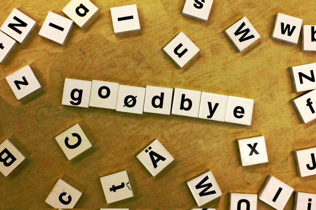 Goodbye by woodleywonderworks