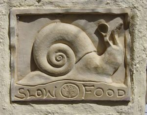 stone carved snail