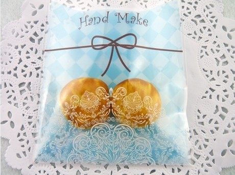 Cookie-Packaging-Korea-Blue-Plaid-Lace-Bowknot-Print-Biscuits-Packaging-Baking-Backage-100pcs-lot-NT006