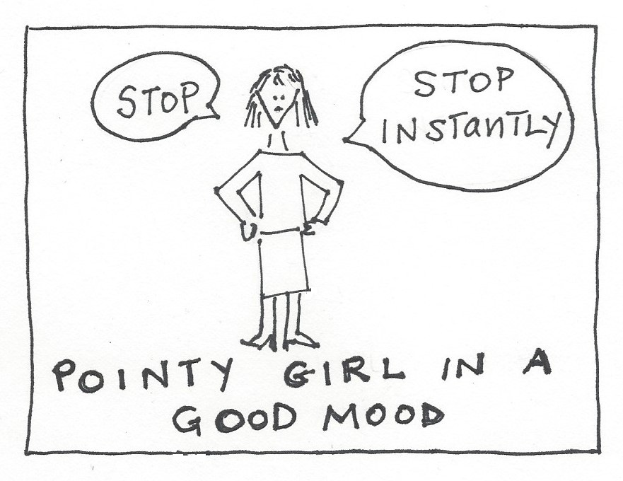 Pointy Girl Good Mood mcculley 123015