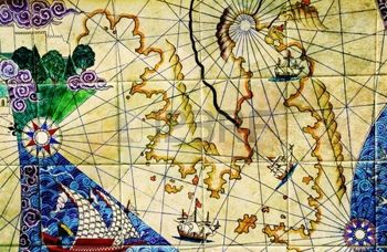 12233282-old-nautical-chart