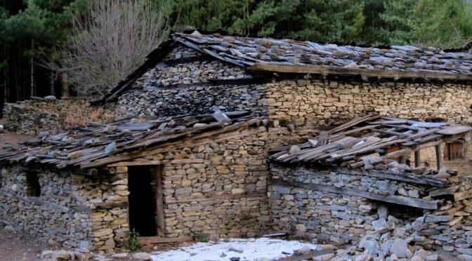 shabby stone house