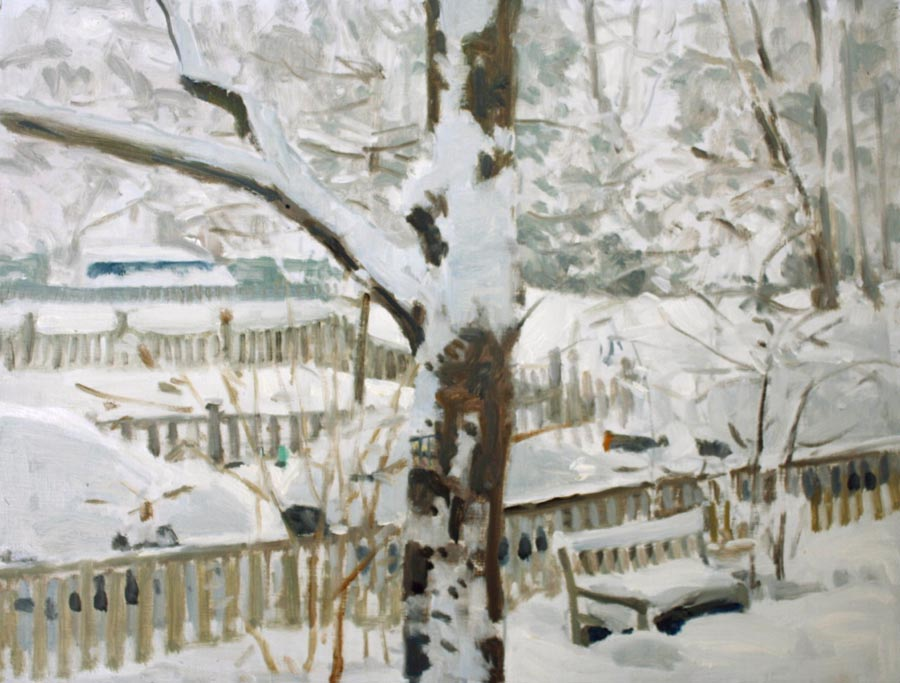 Crozier painting of snow