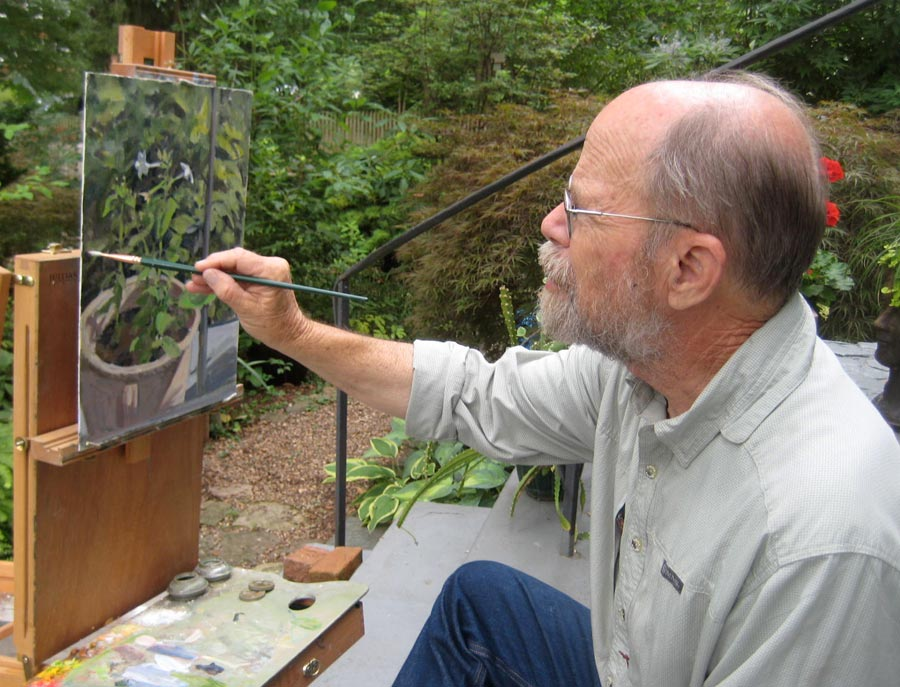 Richard Crozier painting en plein air