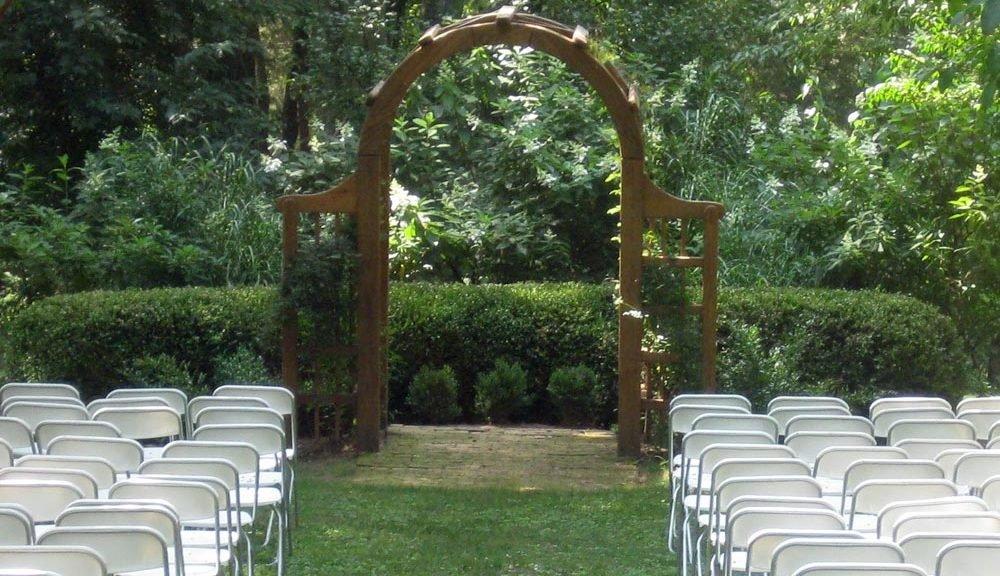 Tuckahoe Plantation wedding altar