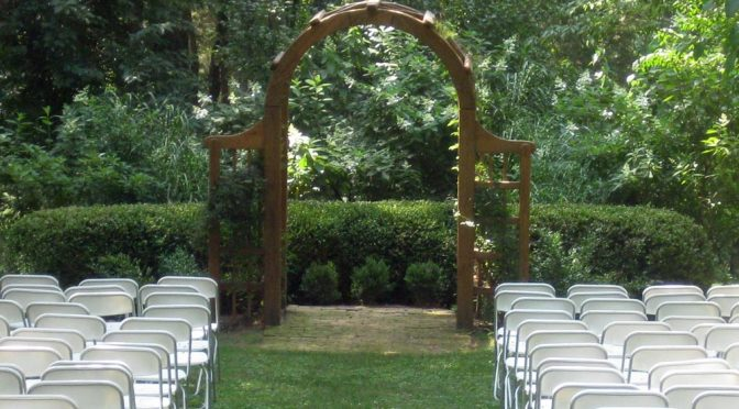 Tuckahoe Plantation wedding altar