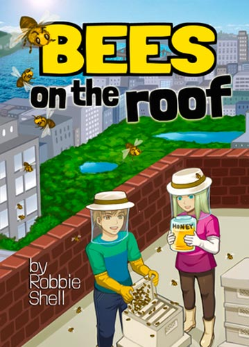 bees on roof book cover