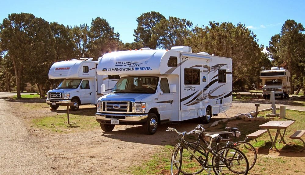 campground with RV