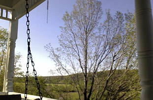 porch swing at The Porches