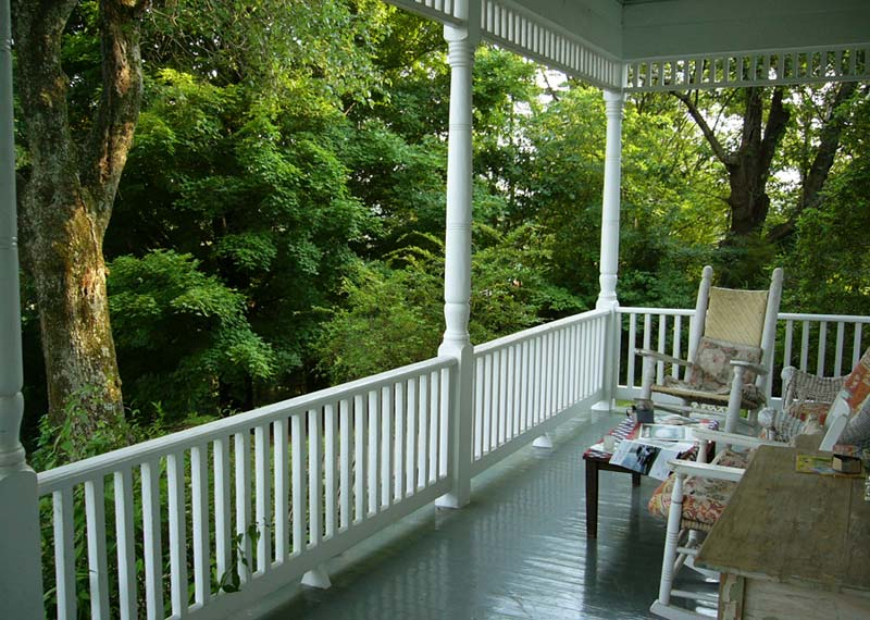 The Porches writing retreat second floor porch