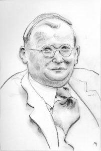 sketch of Dietrich Bonhoeffer