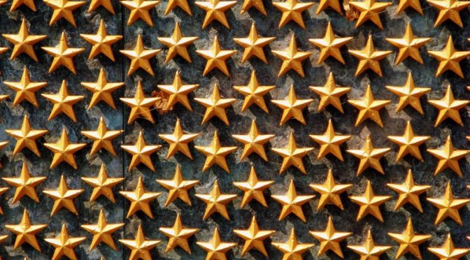 Wall of gold stars