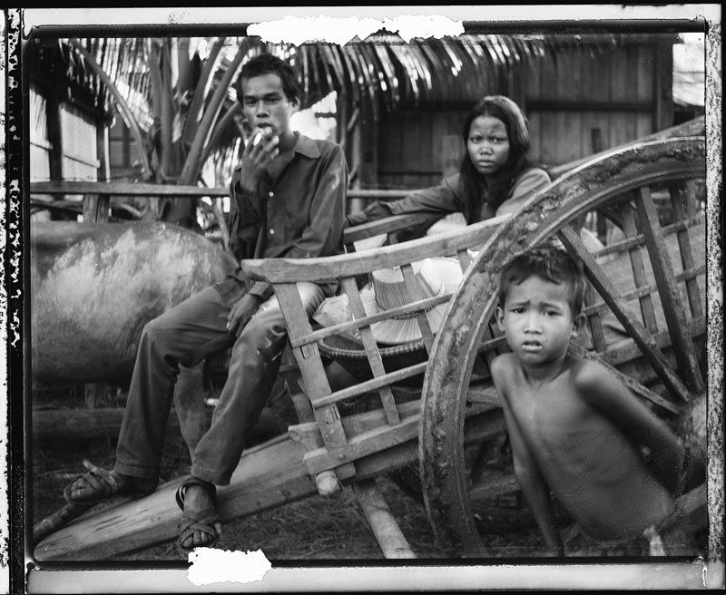 Cambodian people on a wagon
