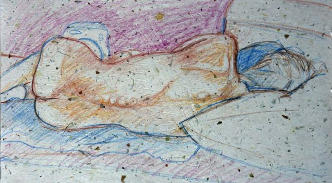 Reclining figure on side
