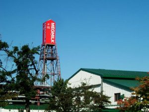 Milk carton shaped watertower