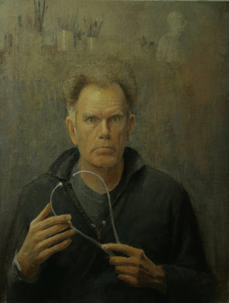 Self portrait painting of artist