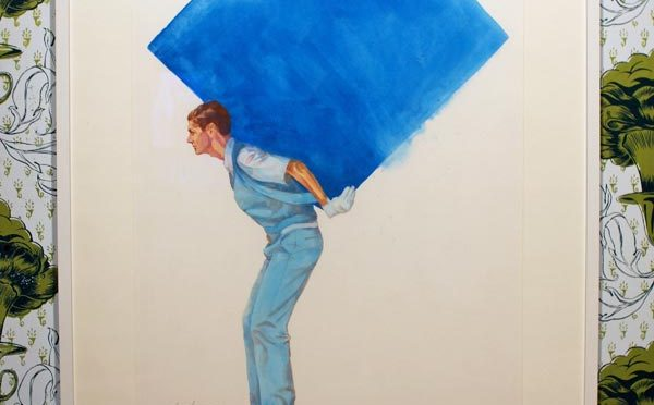 image of worker with blue box on back