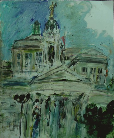 painting of Boro Hall