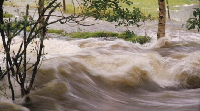 flooding river waters