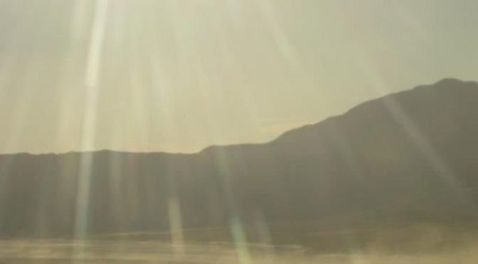 dust in Nevada desert