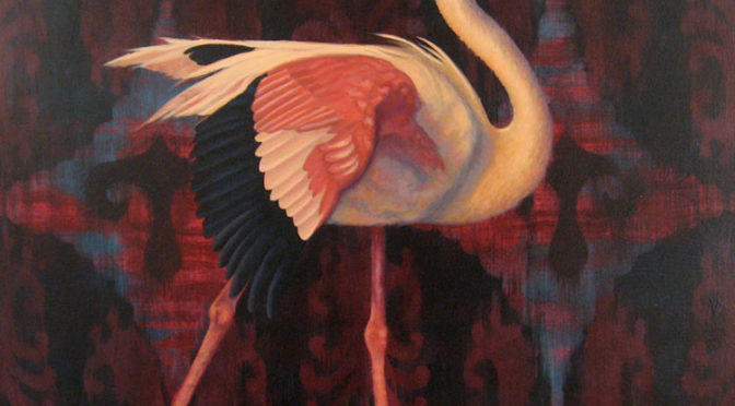 painting of flamingo