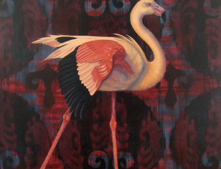 painting of flamingo
