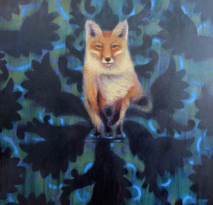 painting of fox