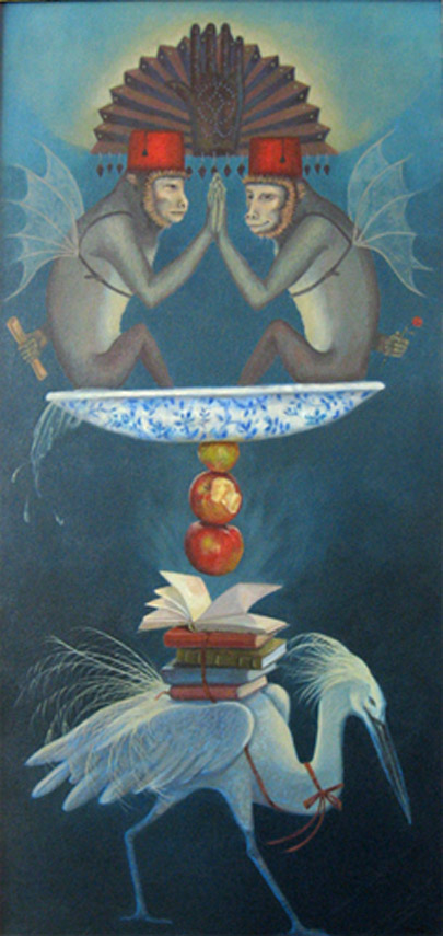 dream imagery of monkeys and egret