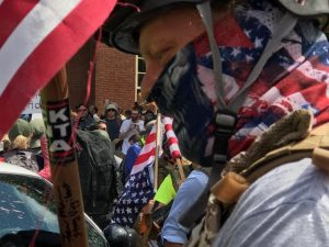 protesters at Charlottesville rally
