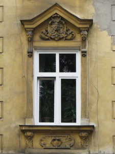 Ornately-decorated window