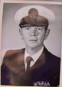 Author's brother in Naval uniform