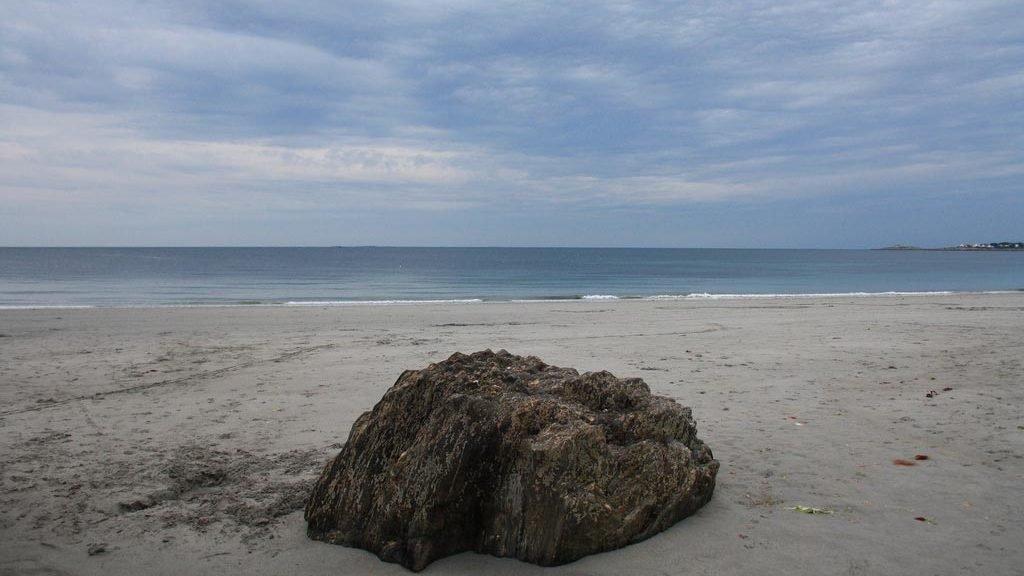 Boulder on the beach