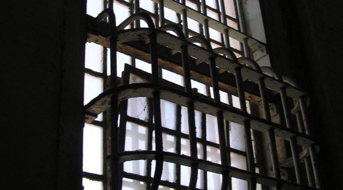 Heavy bars over window