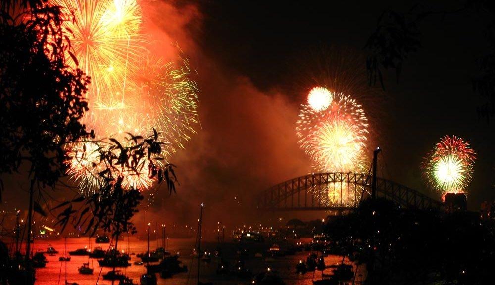 fireworks over Sydney, Australia