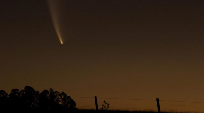 comet in sky