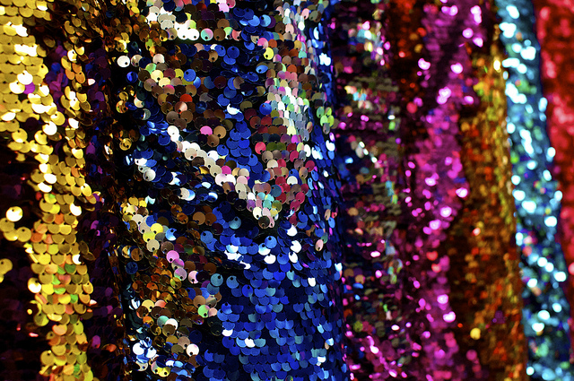 multi-colored sequins