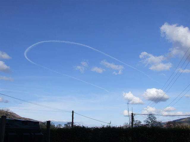 Plane trail in the sky