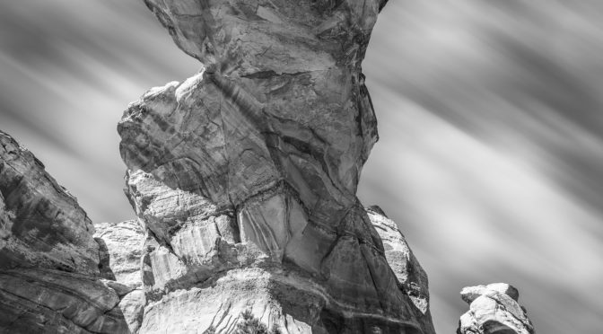 Giant rocks in black and white