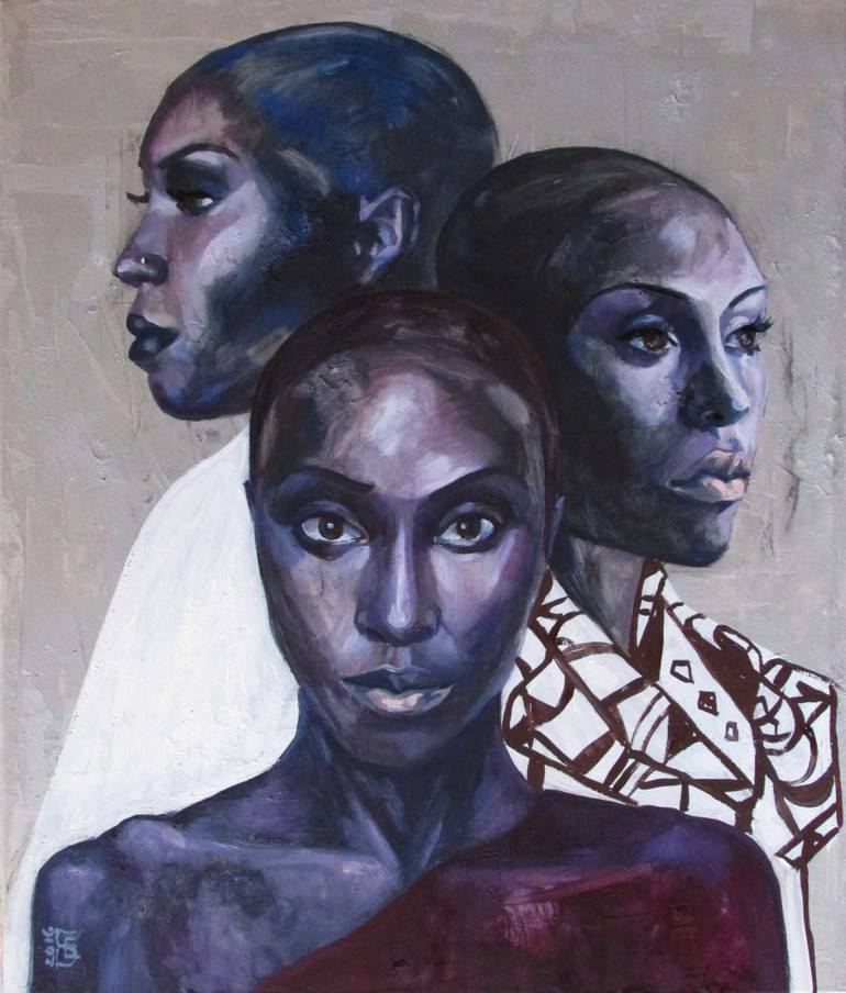Painting of three woman