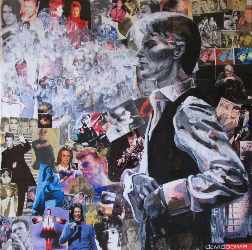 Collage of David Bowie