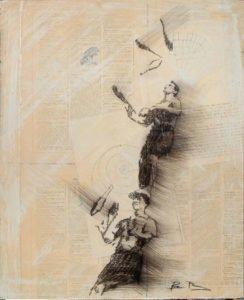 Drawn jugglers